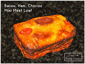 The Bacon Ham Chorizo Mini Meat Loaf is a protein or Banting diet dream. All the proteins without the carbs inside - and very affordable.
